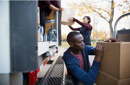 déménagement cartons camion