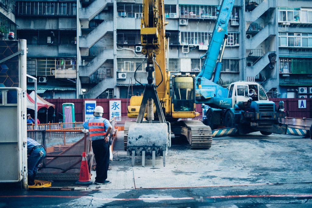 un chantier de construction d'immeuble
